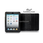 Removable Bluetooth Keyboard - Leather Case for iPad 2