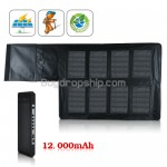 12000 mAh Portable Solar Charger and Battery