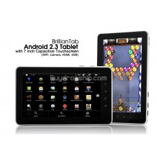 BrillianTab 7 Inch Touchscreen Android 2.3 Tablet PC - HDMI