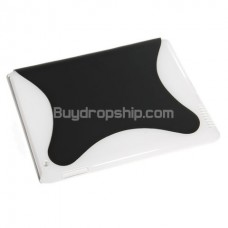 Magnetic Smart Cover with Back Cover for iPad 2 Black&White