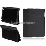 Flip Leather Sleeve Stand Case Cover for iPad 2 - Black