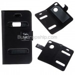 Tabletalk Magnet Clip Leather Sleeve Case for iPhone 4 Black