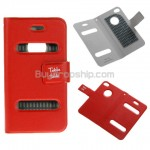 Table talk Magnet Clip Leather Sleeve Case for iPhone 4 Red