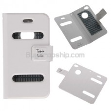Table talk Magnet Clip Leather Sleeve Case for iPhone 4 4G