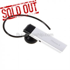 Bluetooth Headset for iPhone 4G - 4-Hour Talk Time Silvery