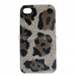 New Popular Leopard Hard Case Back for iPhone 4 4G - Brown