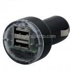 New Dual USB Car Charger Adapter for iPhone iPod Cell Phone
