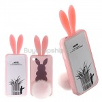 New Cute NIB Rabbit Bunny Rubber TPU Cover Case for iPhone 4