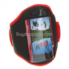 Sport Armband for iPhone 4 4G - Black & Red Color