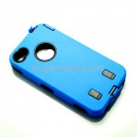 Robot Plastic Hard Back Case Skin for iPhone 4 4G - Blue
