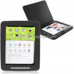 4GB 8.0-inch LCD Touch Screen e-Book Reader - Leather Case