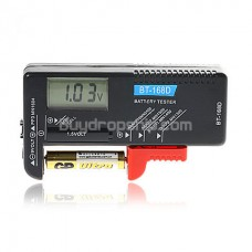 Portable Digital Battery Tester - Black Color