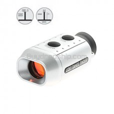Digital 7X Golf Scope with Padded Case - Silver Color
