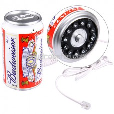 Cool Budweiser Drink Can Shaped Wired Telephone