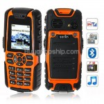 Land Rover S8 Quad Band FM Bluetooth Cell Phone Black&Orange