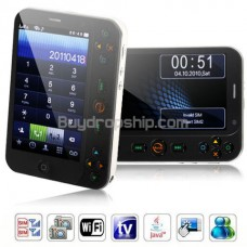 T8200 Quad Band 2-Sim Wifi TV JAVA Touch Screen Cell Phone