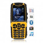 007 Quad Band 2-Sim - FM Bluetooth Cell Phone Black & Yellow