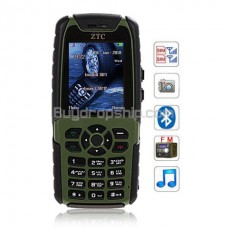 007 Quad Band 2-Sim - FM Bluetooth Cell Phone Black&Green