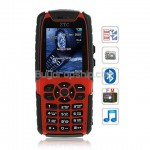 007 Quad Band 2-Sim - FM Bluetooth Cell Phone - Black & Red