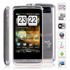 3.6inch Wifi GPS JAVA 2-Sim Android 2.2 Smart Phone - Silver :  cell phone mobile phone