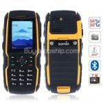 S850 Quad Band 2-Sim Java FM Cell Phone - Black with Yellow