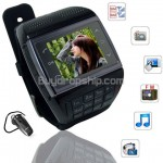 Quad Band 2-Sim FM Compass Touch Screen Watch Phone - VE77