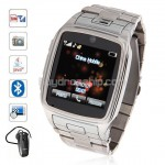 QuadBand JAVA Bluetooth TouchScreen Watch Phone TW810 Silver