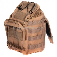 Hard-wearing Multi-pocket Large Saddle Bag - Mud Color