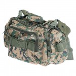 High Quality Durable Multi-pocket Camera Bag Brown with Cyan