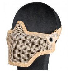 New TMC Strike Steel Mesh Half Face Protector Mask-Khaki