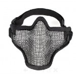 New TMC Strike Steel Mesh Half Face Protector Mask - Black