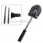 4-in-1 Wilderness Survival Steel - Shovel Axe Knife Saw