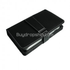 Stylish Keyboard - Stylus - Case for 7 inch Tablet PC Black