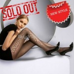 Sexy 20D Sheer Tights Pantyhose Leggings Side Pattern Black