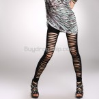 Lady Fashion Hollow Style Tight Bloom Boomboom Leggings