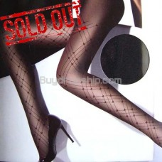 Lady Sexy Sheer Tights Plaid Pantyhose 20D - Black Color