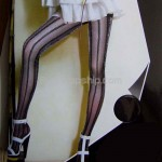 Sexy Sheer Tights Pantyhose - Metallic Thread Stripe Style