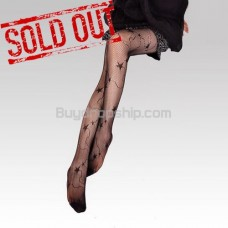 Black Sexy Sheer Tights Pantyhose Star Pattern Fishnet Style