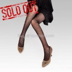 Sexy Sheer Tights Pantyhose Leggings Leopard Style - Black