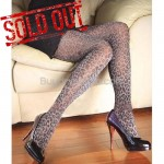 Sexy Sheer Tights Metallic Thread Leopard Pattern Pantyhose