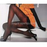 Lady Sexy Tights Pantyhose Leggings Print 600D - Black Color