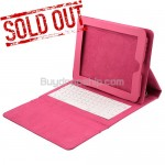 Soft Leather Cases Built-in Keyboard for iPad - Pink Color