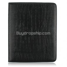 Soft Alligator Leather Case Pouch for iPad - Black Color