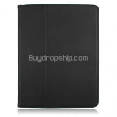 100 line PU Leather Case Protector for Ipad 2 Black Color