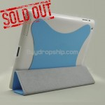Blue Slim Magnetic Smart Cover For iPad 2 With Hard Case