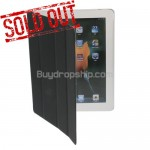 Black Slim Magnetic Smart Cover For iPad 2 With Hard Case