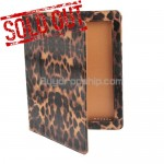 New Leopard Pattern PU Leather Case For iPad 2 - Brown Color