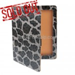 New Leopard Pattern PU Leather Case For iPad 2 - Gray Color