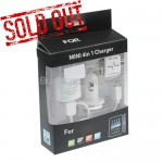 4-in-1 AC Adapter Car Charger USB Cable for iPad iPod iPhone