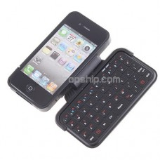 Mini Flip-Out Bluetooth Keyboard Case For iPhone 4 - Black